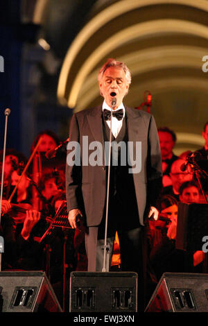 The Italian Tenor Andrea Bocelli Performs At Hampton Court For The Stock Photo Royalty Free