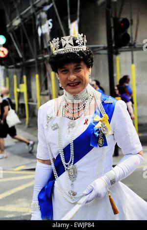 London, UK. 27th June, 2015. Pride in London Parade 2015, Baker Street London; England; UK Credit:  Keith Erskine/Alamy - Stock Photo