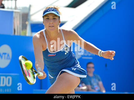 Belinda Bencic (Switzerland) playing n the final of the Aegon International at Eastbourne 2015