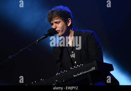 Berlin, Germany. 30th May, 2015. British musician James Blake on stage at the 'Berlin Festival 2015' in Berlin, - Stock Photo