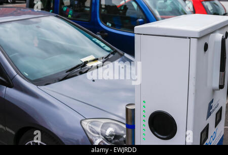 Bangor, Northern Ireland, UK. 27 June 2015. Fixed penalty parking notice issued to car parked in a space reserved - Stock Photo