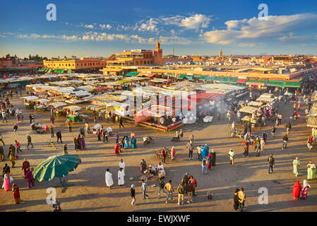 Djemaa el-Fna Square, Marrakech Medina, Morocco, Africa - Stock Photo