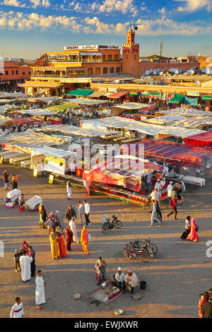 Djemaa el-Fna Square, Marrakech, Morocco, Africa - Stock Photo