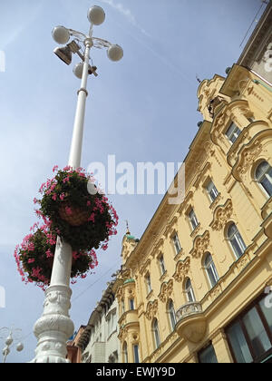 Modern building on the Ban Jelacic Square in Zagreb, Croatia   Photographed in August 31th 2014. - Stock Photo