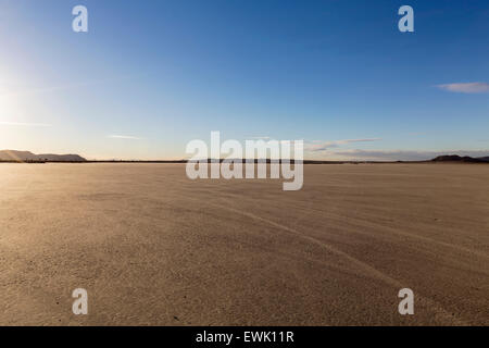 El Mirage dry lake bed in California's Mojave desert. - Stock Photo