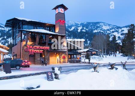 Christmas in Jackson Hole, Wyoming - Stock Photo