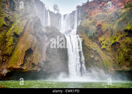 Ouzoud Waterfalls, Beni Mellal, Morocco, Africa - Stock Photo