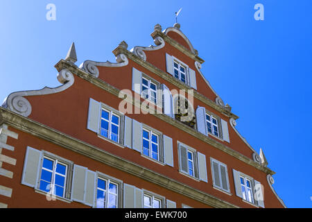 Altes Zollamt, Old Customs Office, Lindau am Bodensee, Lake Constance, Bavaria, Germany, Europe - Stock Photo