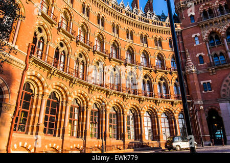 Former Midland Grand hotel part of St.Pancras railway station, London, England, U.K. - Stock Photo