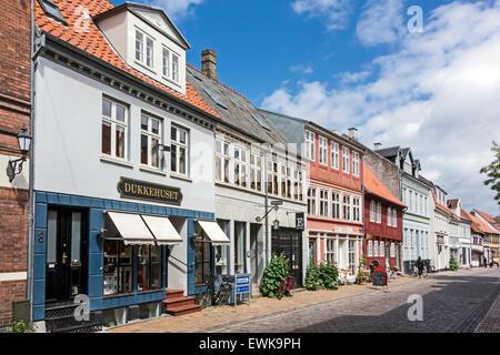 Dukkehuset and Studiestuen in Nedergade Odense Denmark - Stock Photo