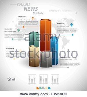 Business Infographic Template For Interactive Data Communication ...