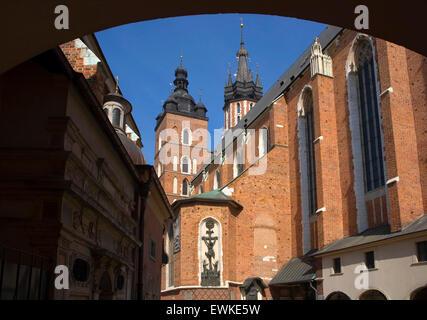 St Mary Basilica in Krakow, Poland - Stock Photo