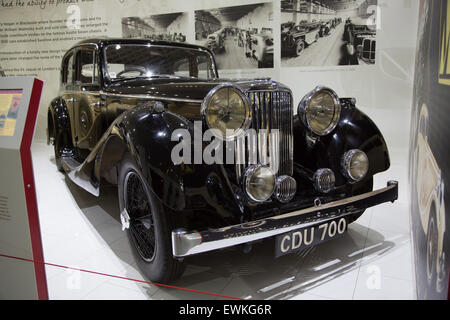 1937 SS Jaguar 2.5 litre on display at Coventry Transport Museum - Stock Photo