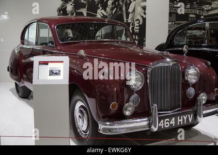 1955 Jaguar Mark VIIM on display at Coventry Transport Museum - Stock Photo
