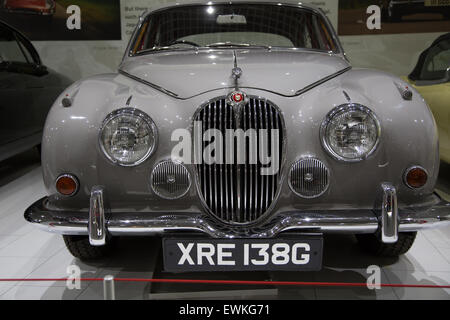 1969 Jaguar 240 on display at Coventry Transport Museum - Stock Photo