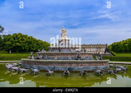 Latona Fountain, Herrenchiemsee Palace, Herreninsel, Gentleman's Island, Lake Chiemsee, Chiemgau, Upper Bavaria, - Stock Photo