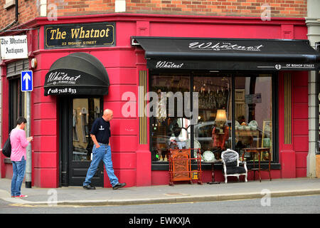 The Whatnot antique shop in Bishop Street, Londonderry (Derry), Northern Ireland. - Stock Photo