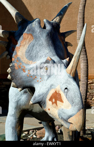 Styracosaurus, Dinosaur Resource Center, Woodland Park, Colorado USA - Stock Photo