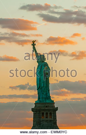 Statue of Liberty, New York Harbor, New York, New York USA. - Stock Photo