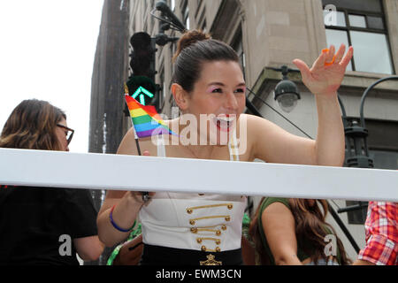 New York, USA. 28th June, 2015. New York City's Heritage and Pride March. begining at 36th street and 5th ave. and - Stock Photo