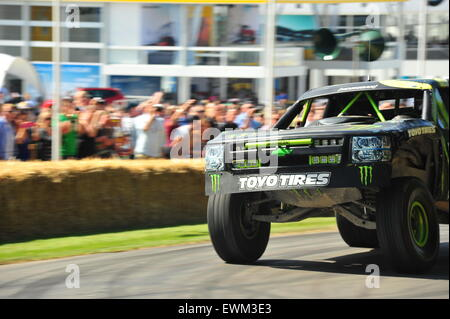 Goodwood, West Sussex, UK. Sunday 28 June 2015 The final day of action at the Goodwood Festival of Speed. Racing - Stock Photo