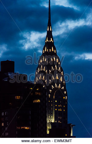 The iconic art deco Chrysler Building at twilight, New York, New York USA. - Stock Photo