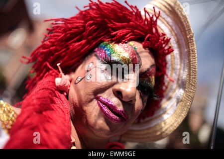 Bogota, Colombia. 28th June, 2015. The Gay Pride Parade is held in Bogota, capital of Colombia, June 28, 2015. The - Stock Photo