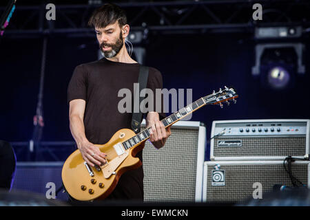 Placebo perform live at Pinkpop Festival 2015 in Landgraaf Netherlands © Roberto Finizio/Alamy Live News - Stock Photo