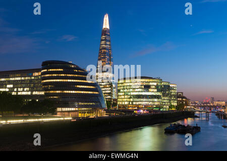The Shard skyscraper, Thames, London, England, United Kingdom - Stock Photo