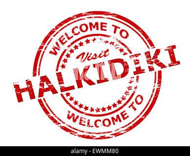Welcome To Halkidiki Stock Vector Art Illustration Vector Image