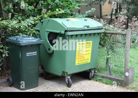 Recycling Waste Bins - Stock Photo