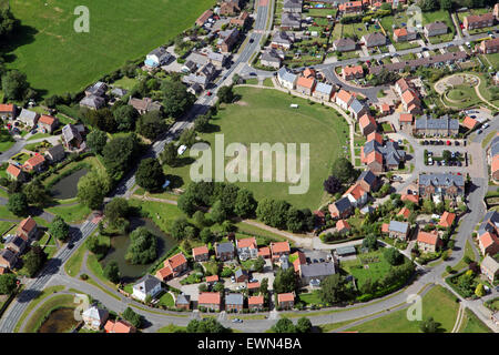 aerial view of North Stainley village near Ripon, North Yorkshire, UK - Stock Photo