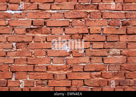 Seamless old red brick wall texture - Stock Photo