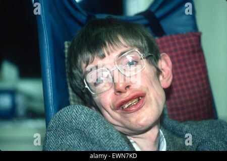 Stephen Hawking is the former Lucasian Professor of Mathematics at the University of Cambridge and author of A Brief - Stock Photo