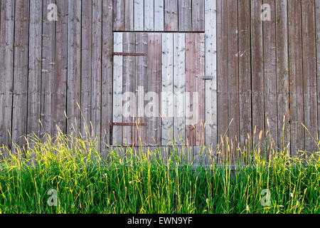 Barn Door in Sweden - Stock Photo