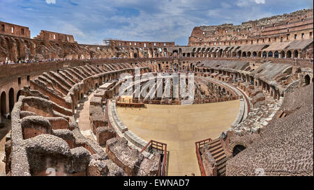 The Colosseum or Coliseum, is an elliptical amphitheatre in the centre of the city of Rome, Italy - Stock Photo