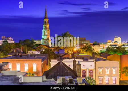 Charleston, South Carolina, USA town skyline. - Stock Photo