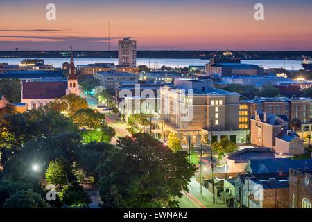 Charleston, South Carolina, USA downtown cityscape. - Stock Photo