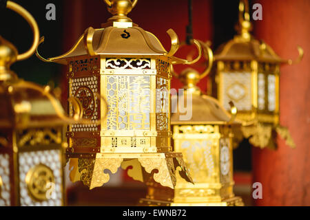 Nara, Japan, Japanese lanterns at Kasuga-taisha Shrine. - Stock Photo