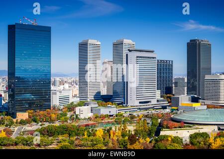 Osaka, Japan cityscape at Osaka Business Park in the autumn. - Stock Photo