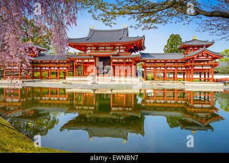 Kyoto, Japan at Byodo-in Temple. - Stock Photo