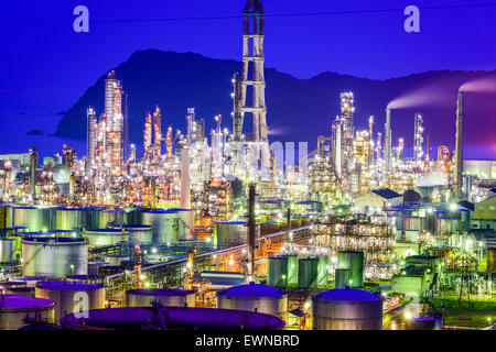 Oil refineries of Wakayama, Japan. - Stock Photo