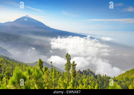 Tenerife - view of Teide Volcano Mount, Canary Islands, Spain - Stock Photo