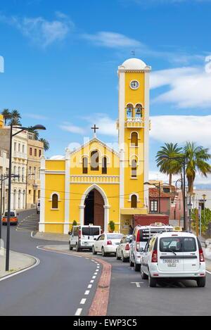 Church of Nuestra Senora de la Encarnacion, Hermigua, La Gomera, Canary Islands - Stock Photo