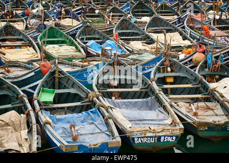 Agadir, fishing boats in old port. Morocco - Stock Photo