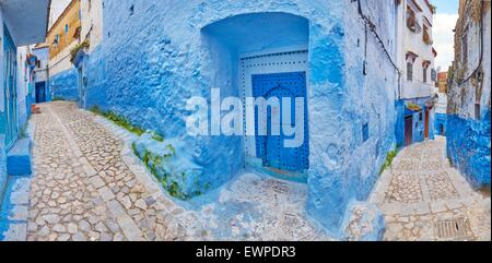 Chefchaouen Old Town (Chaouen) known as Blue City, Morocco, Africa - Stock Photo