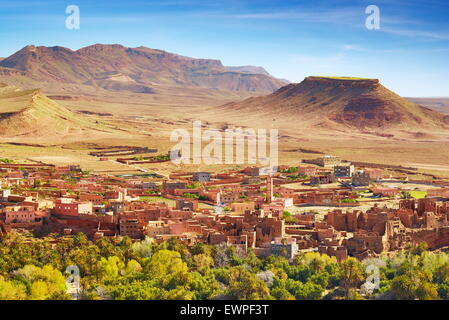 Tinghir, Todra region.  Atlas Mountain region, Morocco - Stock Photo