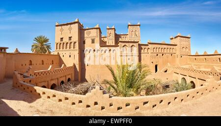 Kasbah Amahidil in Skoura oasis, Ouarzazate district. Morocco - Stock Photo