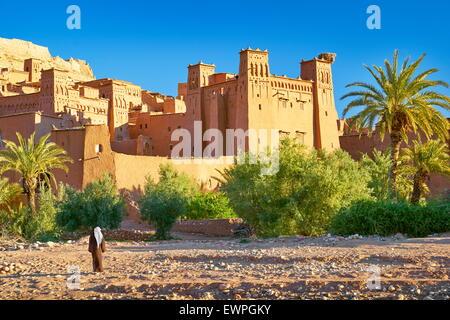 Ait Benhaddou fortress near Ouarzazate, Morocco - Stock Photo
