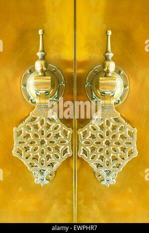 Ornamental knocker, Morocco, Africa - Stock Photo